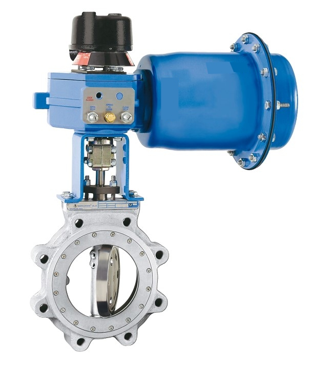Precision digital flow and pressure control with a v port for Motor operated butterfly valve
