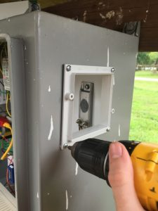 Attach The Vent Base To The Enclosure Wall, and Secure with Provided Sheet Metal Screws (4).