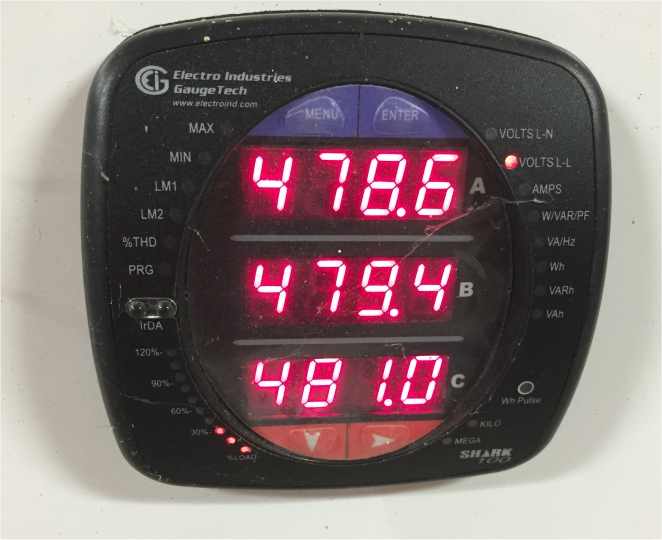 Shark 100 Meter : Advanced phase voltage and power consumption tracking at