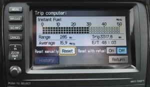 Automobile Fuel Efficiency Display.