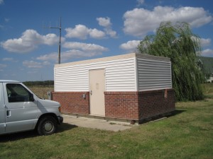 Booster Pump Station at Williamsville IL - Outside View