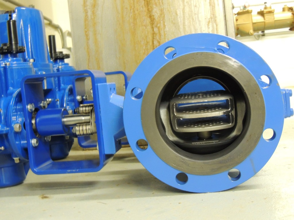 Internal View of the V-Port / Q-Trim Ball Valve on the Bench Before Installation.