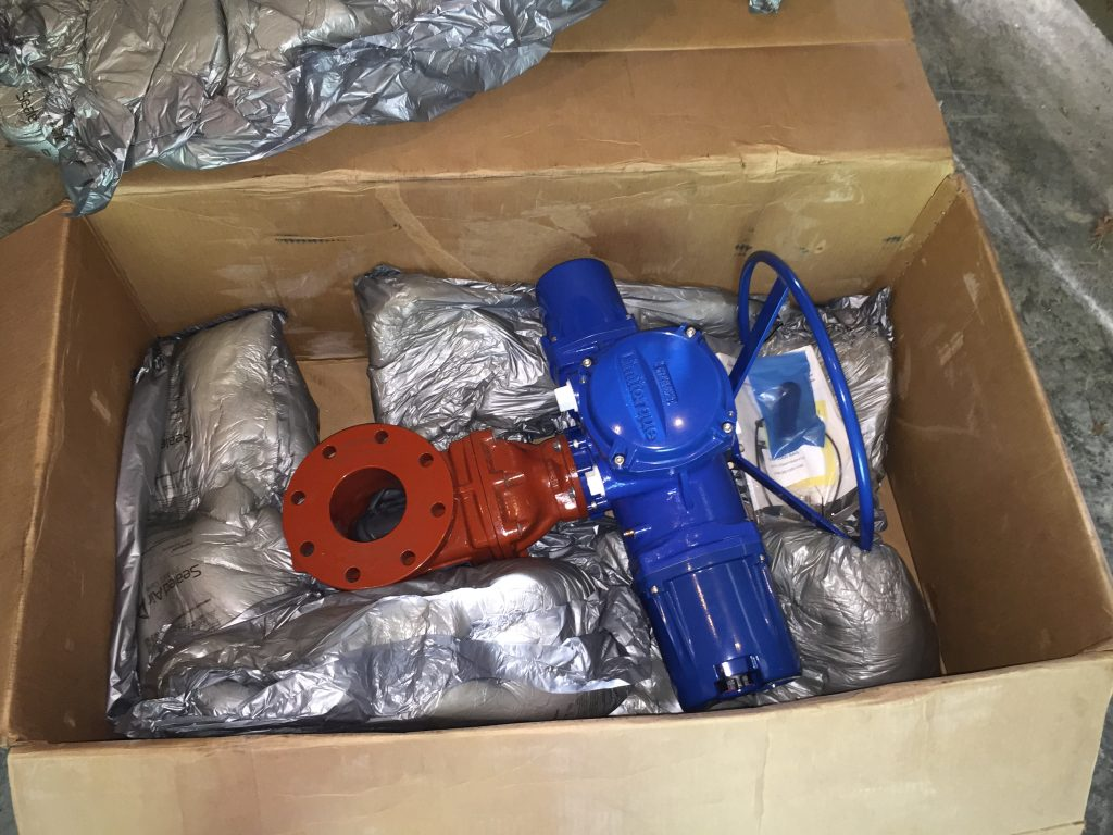 Complete Valve/Actuator Assembly, Before Installation.