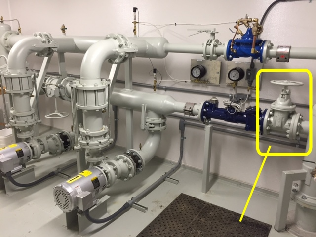 On the Influent Side of the Station, There Existed a Manual Gate Valve Which Could Be Automated To Inhibit Free-Flow.