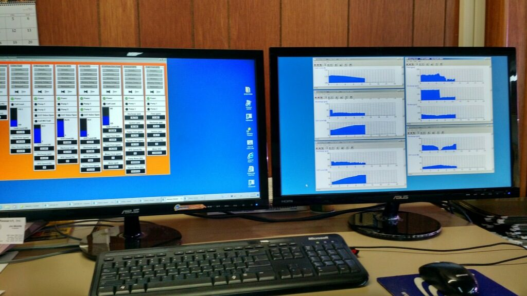 Dual-Monitor SCADA System at a Rural Water District